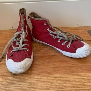 Cruise by Ilse Jacobsen Red High Top Sneakers 38